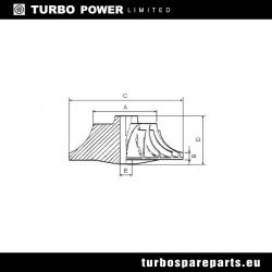 Compressor Wheel MHI TF035HL