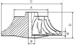 Compressor Wheel MHI TD04L-4T