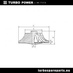 Compressor Wheel Garrett GT1852V/GT2052S/GT205